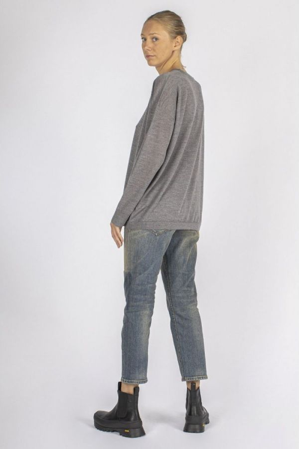 Corduyored pants - Navy blue